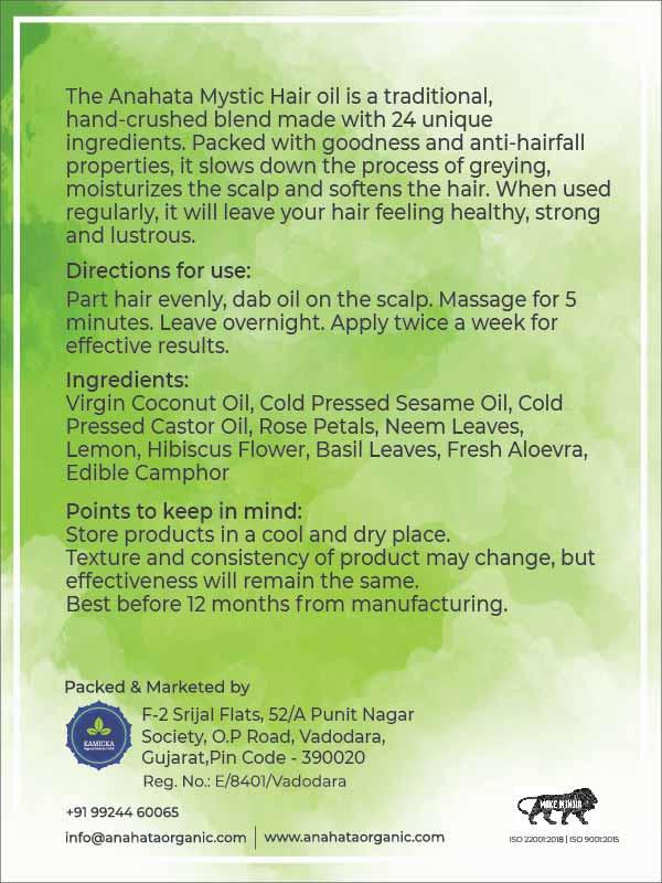 Mystic Hair Oil | Essential Oils | Organic Hair Oils