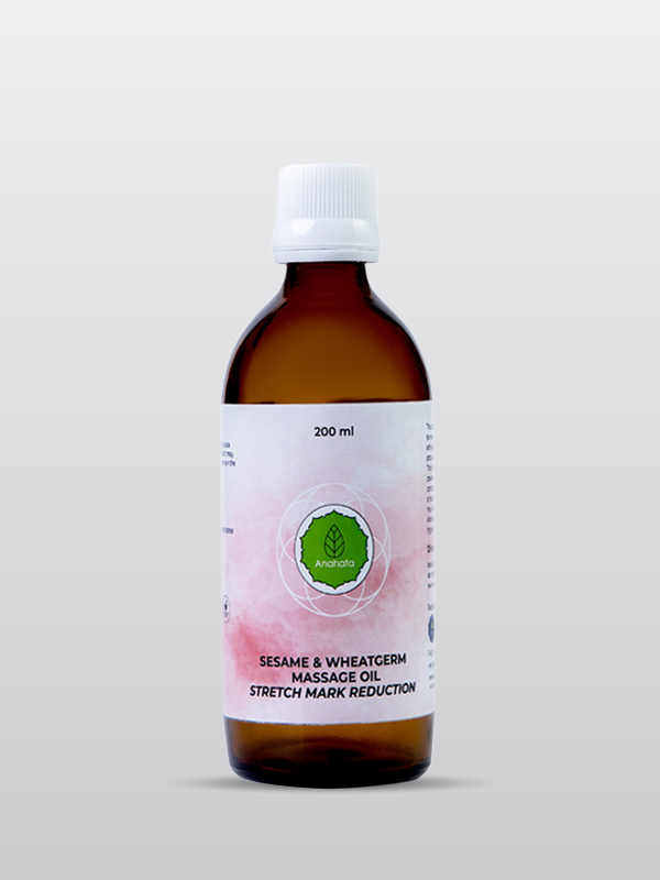 Sesame and Wheatgerm Massage Oil | Stretch Mark Reduction | Organic Products